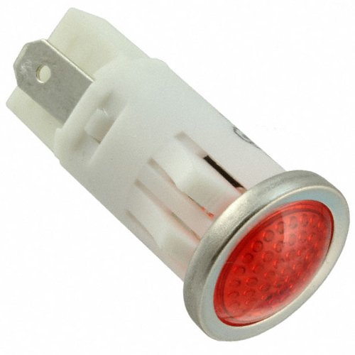 VCC 1092 Series LED Panel Mount Indicator with Tab Terminals and Semi Dome Lens, 0.500-Inch/12.7mm Diameter, 125 Volt, Red (Panel Diameter)