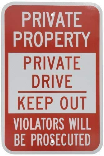 Vincenicy Metal Sign Great Aluminum Tin Sign Engineer Grade Sign Private Property Private Drive Keep Out on Decorative Metal Outdoor Signs Yard Sign 8 X 12 Inch (Private Property Keep Out Signs For Sale)