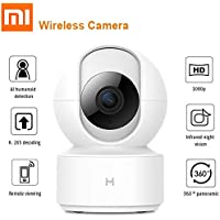 2019 newest Xiaomi H265 1080P Smart Home IP Wireless Camera 360 Degree Panoramic IMILAB IR Night Vision Al Detection Mi Home APP Remote Control with Mic supporting flip