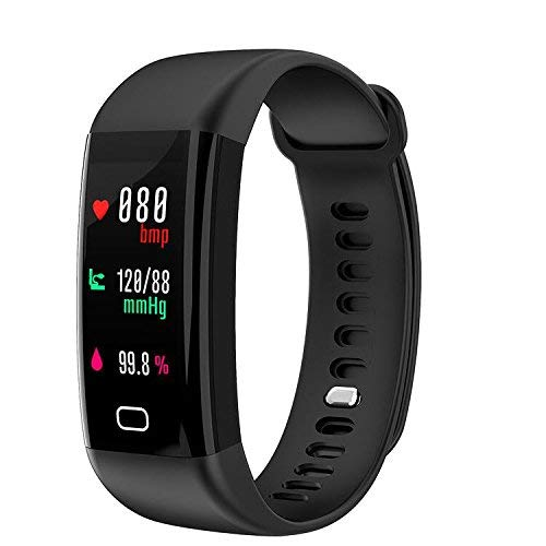 A5 Heart Rate Monitor Watch - Fitness Tracker, Smart Watch 4 sports Mode, Heart Rate Monitor IP68 Waterproof Activity Tracker, Sleep & Blood Pressure Oxygen Monitor, Calorie/Step Counter Smart Wristband for IOS Android