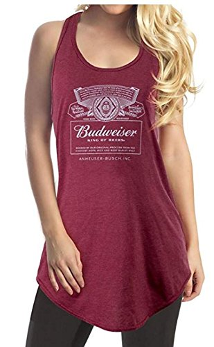 Budweiser Racerback Ladies Tank Top Medium ()