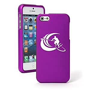 Apple iPhone 6 Plus / 6s Plus Snap On 2 Piece Rubber Hard Case Cover Stand Up Paddle Board Surf (Purple)