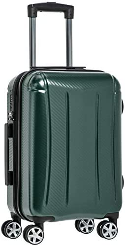 Amazon Basics Oxford Carry-On Expandable Spinner Luggage Suitcase with TSA Lock - 21.8 Inch, Green