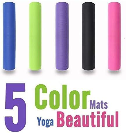 15mm NBR Tappetino Yoga Esercizio Fitness Palestra Allenamento Anti-Scivolo Physio Pilates 183x60cm