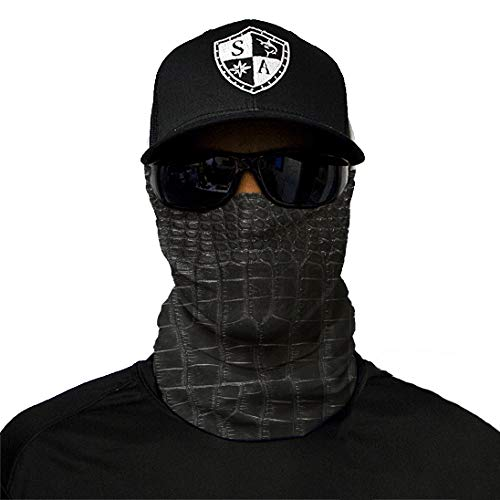 Medium Paintball and Salt Lovers Boating Worn as a Balaclava SA Company Face Shield Micro Fiber Protect from Wind Neck Gaiter /& Head Band for Hunting Dirt Bugs Fishing - Alligator Skin Cycling