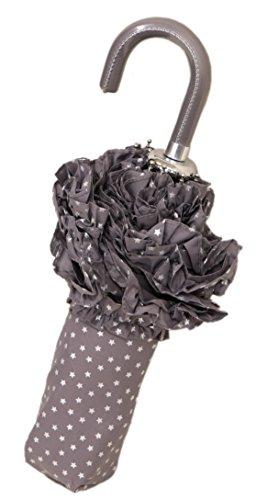 Lisbeth Dahl Grey Umbrella with Glitter Stars that Fits in Bag by Lisbeth Dahl