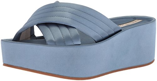- Kenneth Cole New York Women's Damariss Platform X-Band Slip On Sandal Slide, Blue, 7 M US