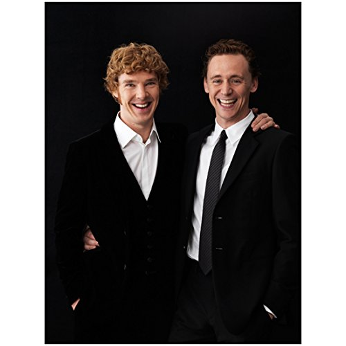 Photo 8x10 Munich (War Horse Cast Benedict Cumberbatch and Tom Hiddleston with Big Smiles 8 x 10 Photo)