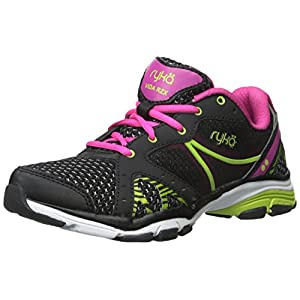 Ryka Women's Vida RZX Cross-Training Shoe, Black Pink/Lime Blaze, 8.5 M US