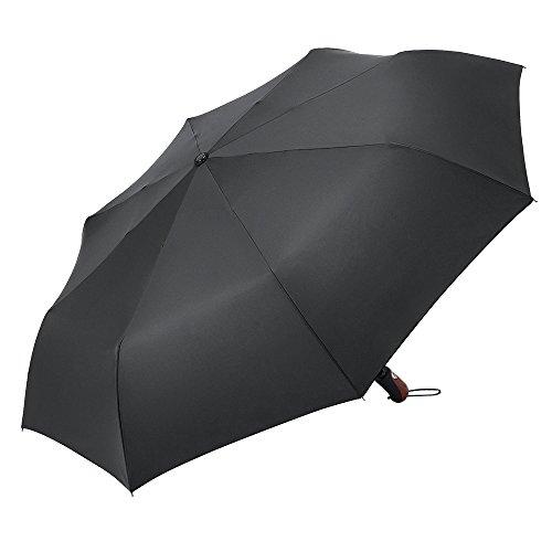 Plemo Regenschirm Automatik Taschenschirm Schirm Groß Herren Herrenschirm Sturmfest Stabil Schwarz (113cm Durchmesser)