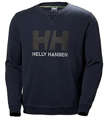 Helly Hansen Men's HH Logo Crewneck French Terry Sweatshirt, 994 Graphite Blue, Small