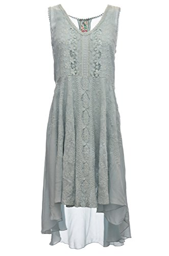 Johnny Was Collection Sea Mist Crochet Lace Flair Dress (Large)