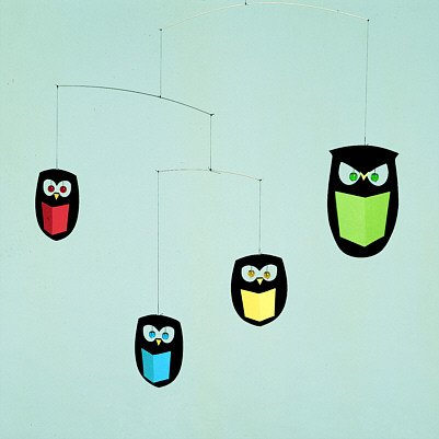 Flensted Mobiles Nursery Mobiles, The Wisest Owls, Baby & Kids Zone