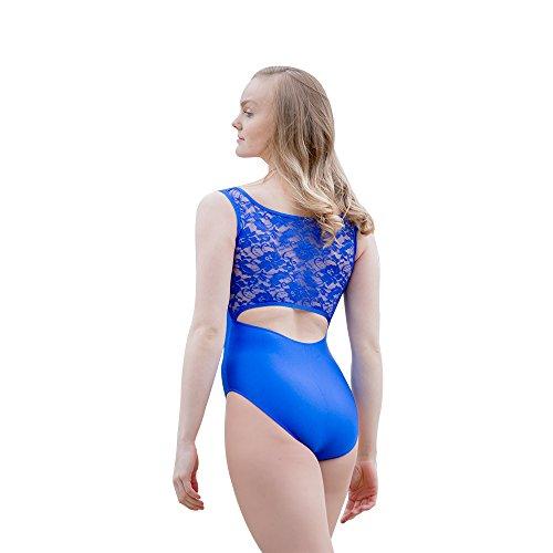 3cc189bbef HDW DANCE Adult Tank Ballet Dance Leotard Bodysuit Lace Back Shiny Lycra  (L