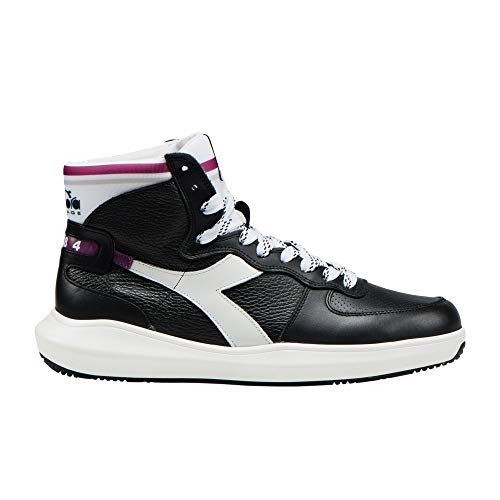 (Diadora Heritage Shoes Sneaker Unisex MI Basket H Leather MDS Black -)