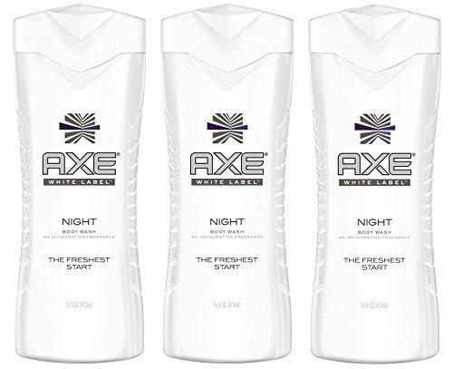 Axe White Label Body Wash - Night - Net Wt. 16 FL OZ (473 mL) Each - Pack of 3 (Obsession Body Shower Gel)