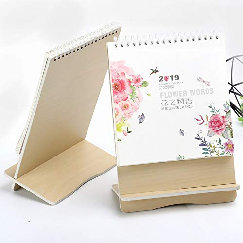 Gelaiken 2019 - Calendario de Mesa, diseño Floral, As Shown B, Approx.24.5x17cm