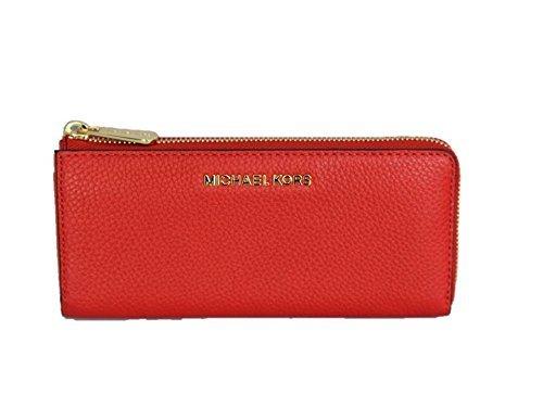 Michael Kors Bedford Large Three Quarter Zip Leather Wallet - Sienna by Michael Kors
