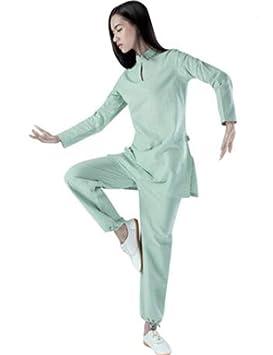 peiwen Chino de Algodon Natural y Trajes de Lino Women  s Yoga Desgaste  78978bbba0c8