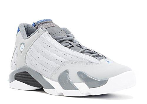 NIKE Air Jordan 14 Retro BG (GS) 'Sport Blue' - 487524-004 - Size 3.5 (Women 14 Retro Jordan)
