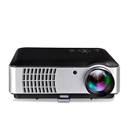 LD BOSS S8A Android 4 4 Ultra 4K HD 5500 Lumens LED Portable Projector Support USB WiFi HDMI VGA AV Input Audio Input for Movies Home Cinema Theater Training Office Auditorium Restaurant White