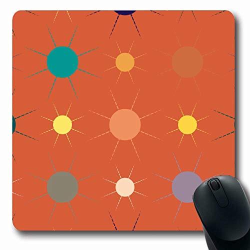 - Ahawoso Mousepads for Computers Grubby Attrition Multicolor Simple Geometric Sun American Parks Batik Best Bulb Canvas Color Design Oblong Shape 7.9 x 9.5 Inches Non-Slip Oblong Gaming Mouse Pad