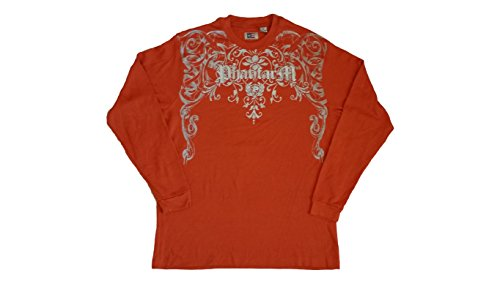 phat-farm-mens-silver-printed-designed-long-sleeve-shirt-4x-orange