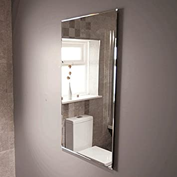 Bathroom Mirror 1000x500 Glass 5mm Bevelled Edge 605 Kg