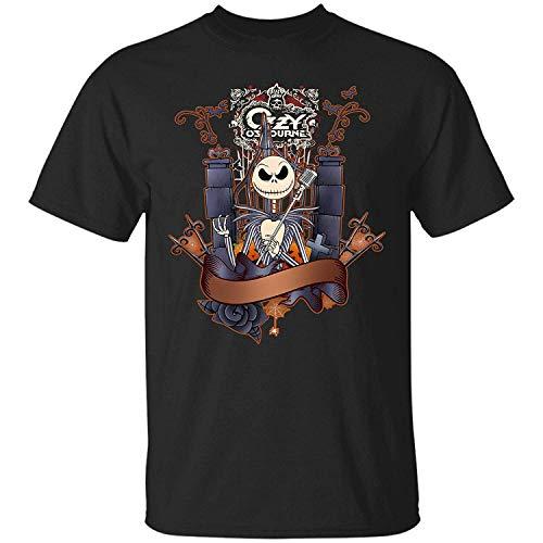 (ACOO-T Jack Skellington, Ozzy Osbourne Design Mens T Shirts Black)