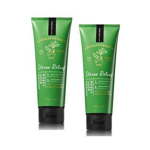 Bath and Body Works 2 Pack Aromatherapy Stress Relief Eucalyptus & Spearmint Body Cream. 8 Oz. Review