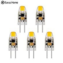 Classic Style Home 1 Watt G4 LED Bi-Pin Base 12V AC/DC Light Bulb 2700K Warm White Dimmable Waterproof T3 G4 Halogen 10W LED Replacement-Pack of 5 (1 W)