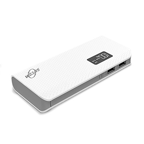 10,000 mAh Portable Power Bank with LED Display and LED Lights – by Safeconn