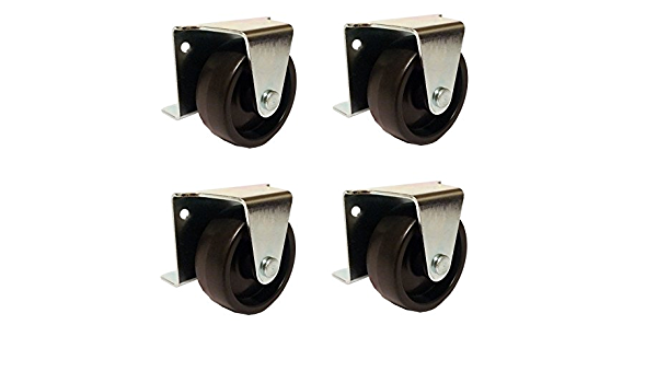 """2/"""" Inch Low Profile Trundle Casters Set of 4 Wheels Cabinet Roll-Out Bed"""