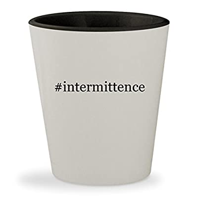 #intermittence - Hashtag White Outer & Black Inner Ceramic 1.5oz Shot Glass