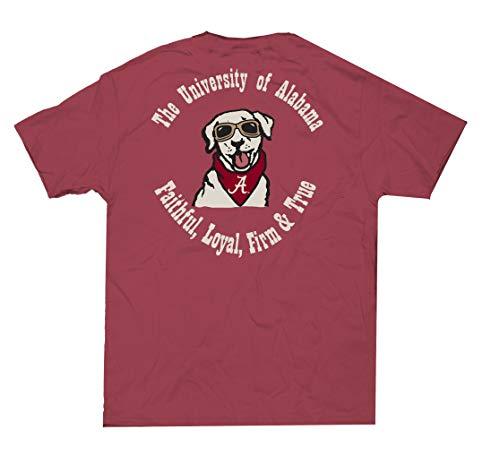 Campus Collection Alabama Copilot Pup Unisex Short Sleeve Pocket T-Shirt-Chili-XXL