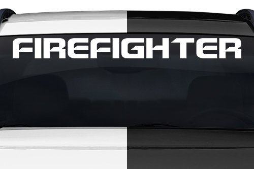 irefighter Spaceage Font Letters Lettering or Custom Text Windshield Decal Sticker Vinyl Graphic Back Rear Window Banner Tailgate Car Truck SUV | 36