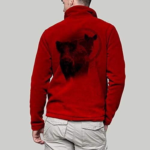 Avec Chasse De easy Polaire Gibier Rouge Un SanglierVêtement Personnalisé Veste Pets 7yvY6gfb