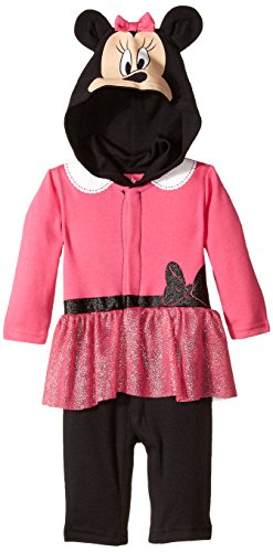 wborn Long Sleeve Minnie Coverall, Pink, 3-6 Months ()
