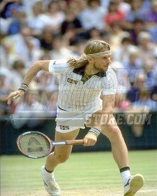 Amazon.com  Bjorn Borg backhand headband 8x10 11x14 16x20 photo 622 - Size  11x14  Sports Collectibles 350cd13f223