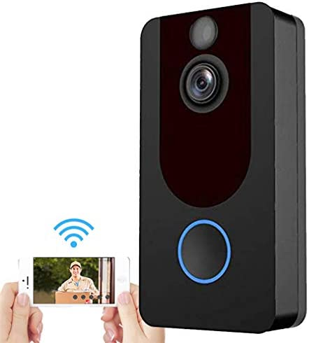 スマートビデオドアベル、1080 HDワイヤレスセキュリティカメラで警察に通報、双方向通話とアプリ制御PIRモーション検出、iOSとAndroidのナイトビジョン