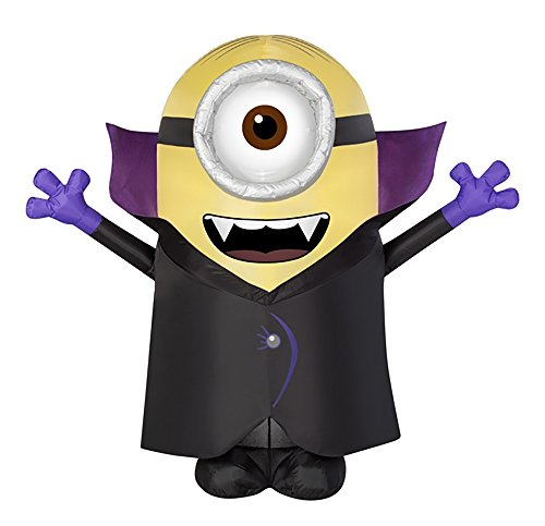 [Halloween Inflatable 4 1/2' Minion Stuart Vampire By Gemmy] (Halloween Outdoor Inflatables)
