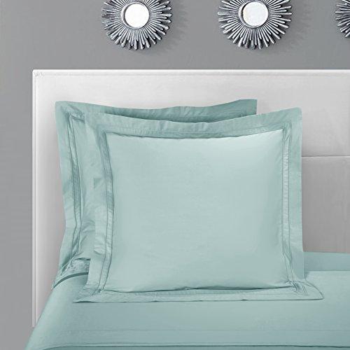 (Casabolaj Triomphe Collection 2 pieces In a Pack European Square Pillow Shams -100% Egyptian Cotton Sateen 400 Thread Count - 26