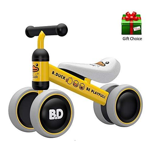 chollos oferta descuentos barato YGJT Bicicleta sin Pedales 1 Año Juguetes Bebes Triciclos Bebes Correpasillos Bebes 1 Año Regalo para 1 Año Pato Amarillo