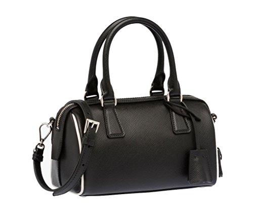 Prada Top Handle Bag Saffiano Leather BL846Y F0N12 S15 (Black)