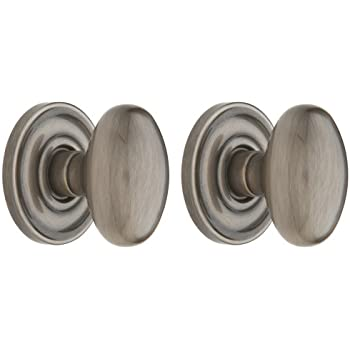 Wonderful PRIV Egg Knob Privacy Set, Antique Nickel