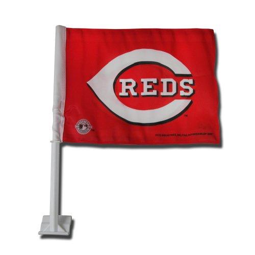 Red Car Flag - Rico Industries MLB Cincinnati Reds Car Flag