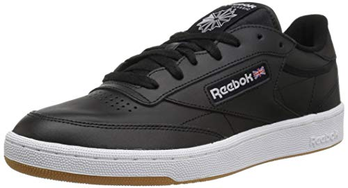 Reebok Men's Club C 85 Walking Shoe, black/white gum, 5.5 M US