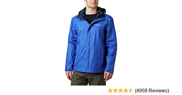 Columbia Mens Watertight II Front-Zip Hooded Rain Jacket