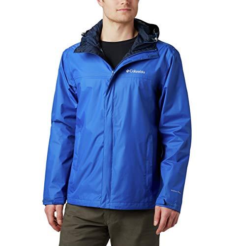 Columbia Men's Watertight II Front-Zip Hooded Rain Jacket,Azul,Large