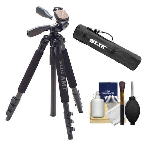 Slik 340 DX Pro Series Black Tripod 3Way Pan/Tilt Head & Quick Release with Tripod Case + Cleaning Kit by Slik